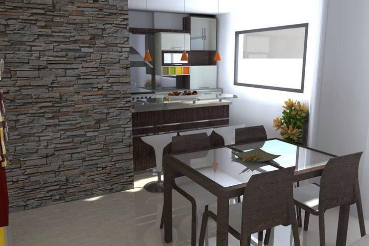 Salones de estilo moderno de Arquitectura 4rq