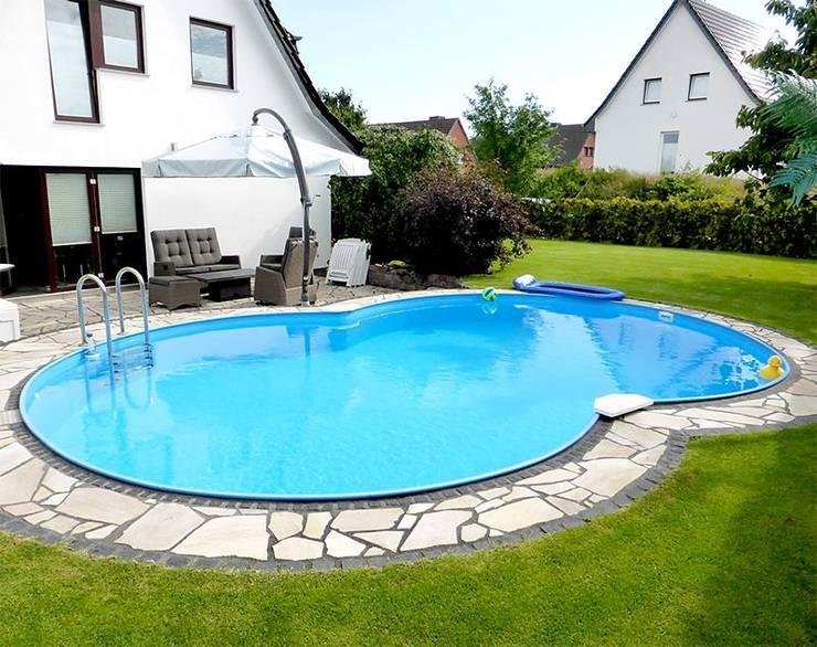 Een zwembad in de tuin wie wil dat nou niet for Garten pool mit gegenstromanlage