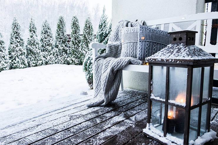 kuscheliges plaid und kissen aus wolle von baltic design. Black Bedroom Furniture Sets. Home Design Ideas