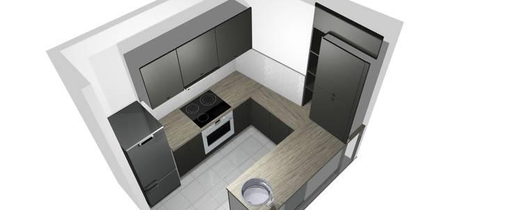 Une petite cuisine de 6m sur mesure for Petite cuisine sur mesure