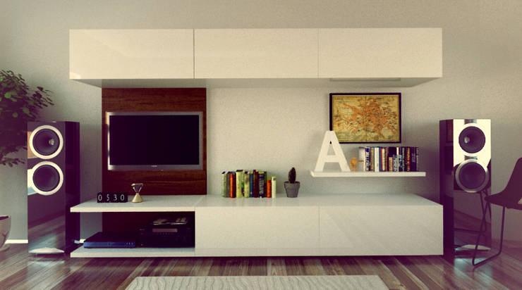Serie de Racks: Livings de estilo minimalista por Límea