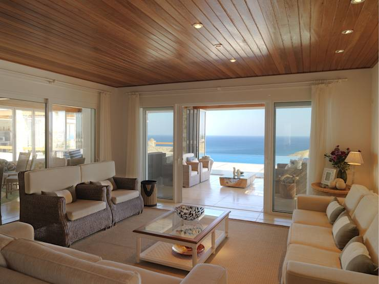 40 salas de estar com decora o espetacular for Sala de estar estilo mediterraneo