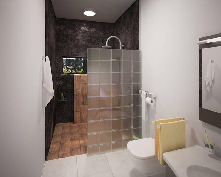 7 ideas geniales para usar bloques de vidrio for Pared de bano de concreto encerado