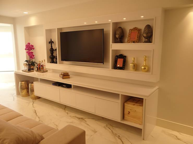 7 pain is de tv para salas pequenas e grandes ficarem lindas for Apartamentos sencillos y bonitos