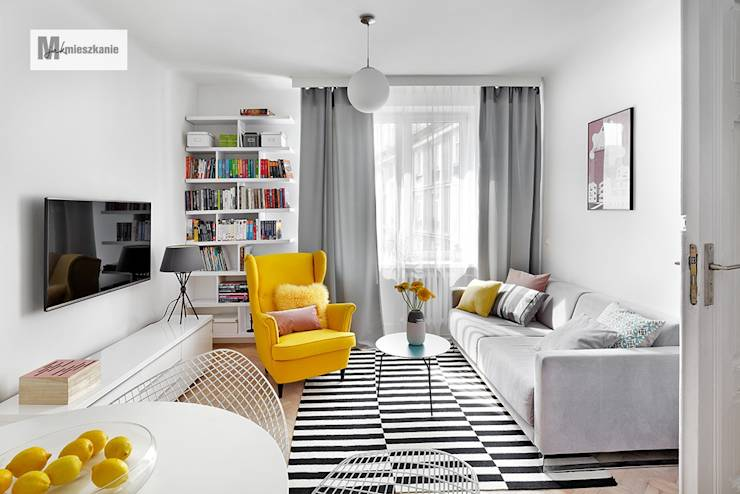 Salas de estilo escandinavo por dziurdziaprojekt
