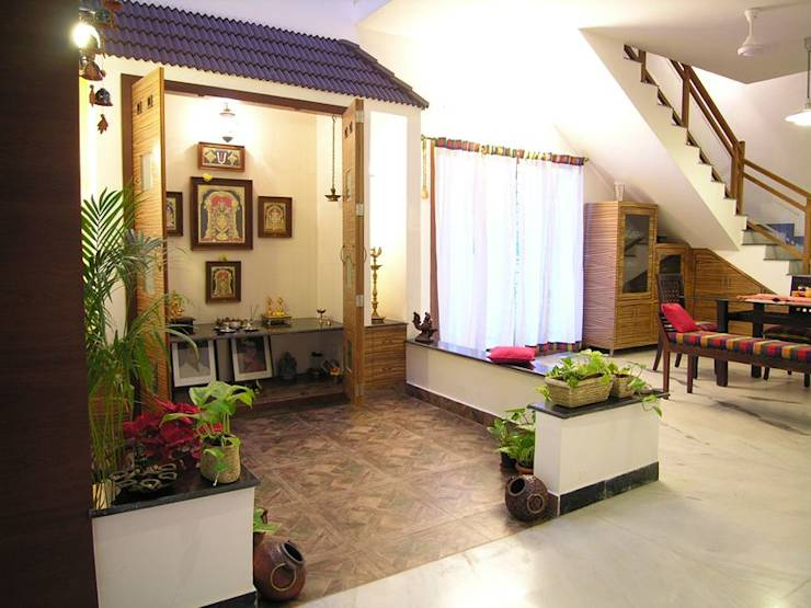 7 pooja rooms dedicated to 7 different gods world hindu news for Different interior designs of houses