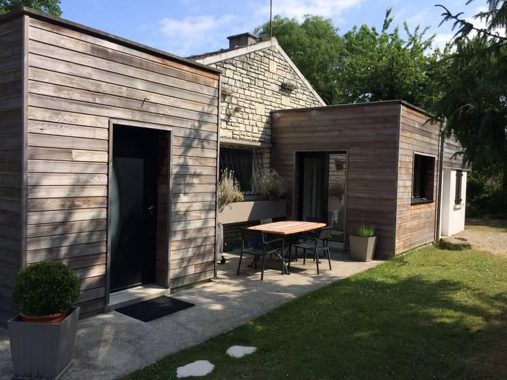 7 fa ades originales avec du bois - Maison bois et pierre ...