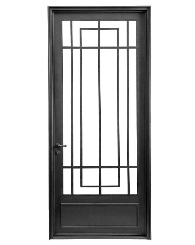 Puerta de entrada rustica moderna de del hierro design for Disenos de puertas de hierro