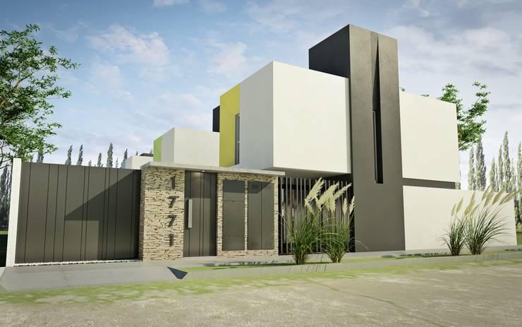 Las 10 mejores fachadas minimalistas for Casa minimalista 7x15