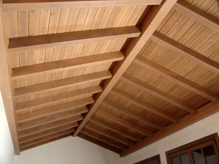 Estructuras de madera de conely homify - Duelas de madera ...