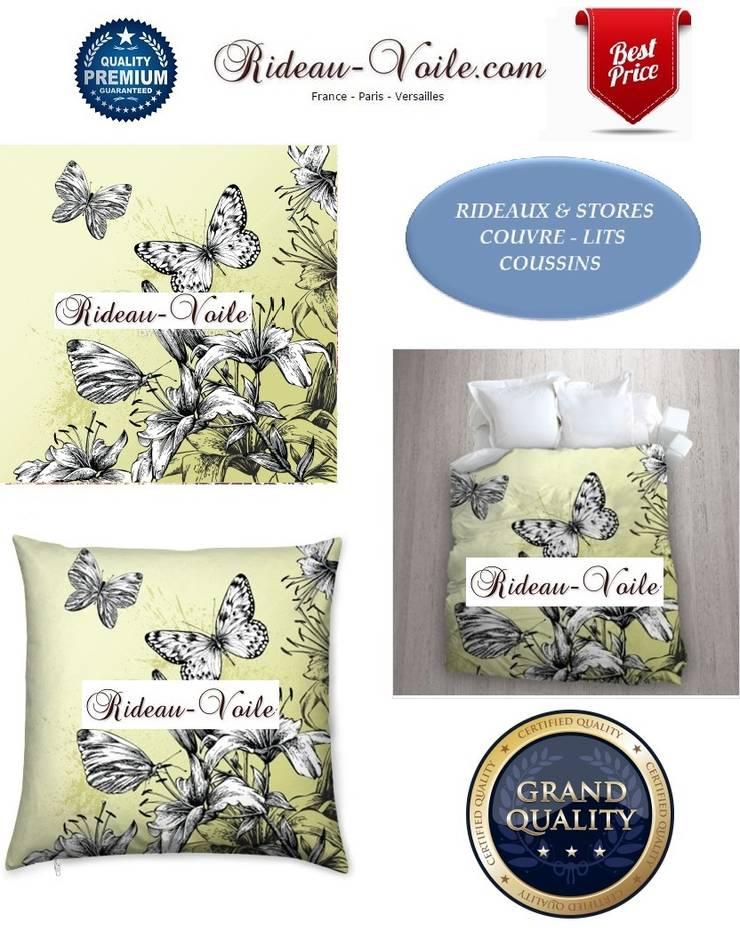 D coration d 39 int rieure motifs oiseaux rideaux stores for Housse de couette translation