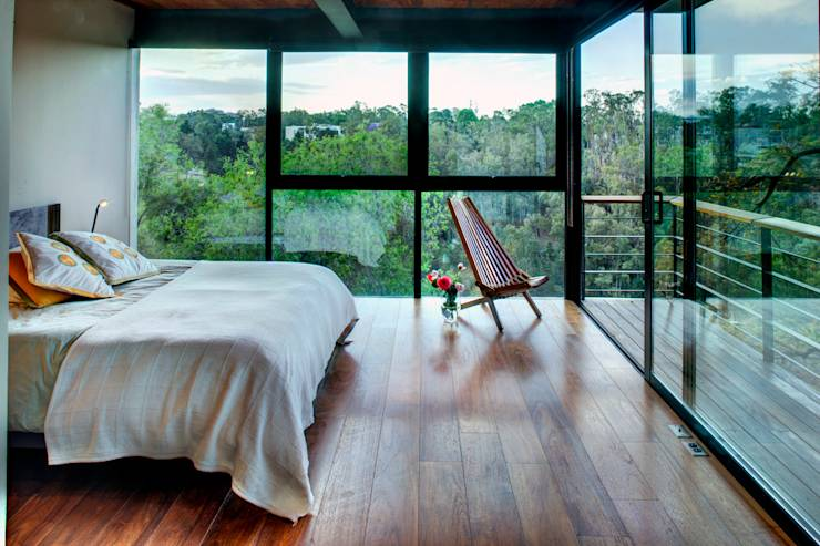 Casa LA 356 - RIMA Arquitectura: Recámaras de estilo moderno por RIMA Arquitectura