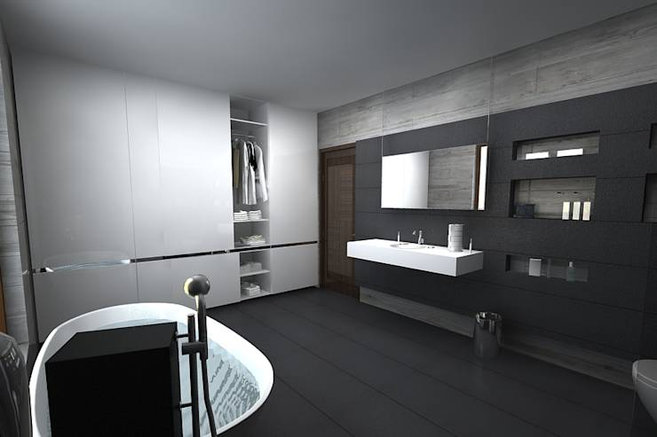 Baños de estilo translation missing: mx.style.baños.moderno por A Mans Creation