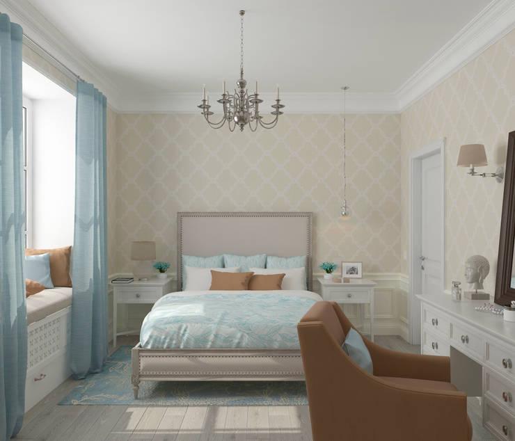translation missing: eg.style.غرفة-نوم.eclectic غرفة نوم تنفيذ Студия дизайна Дарьи Одарюк