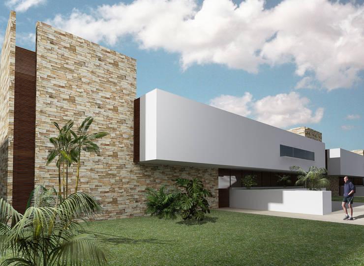 20 fachadas en 3d que te inspirar n a dise ar la casa de for Fachada de casas modernas con piedras