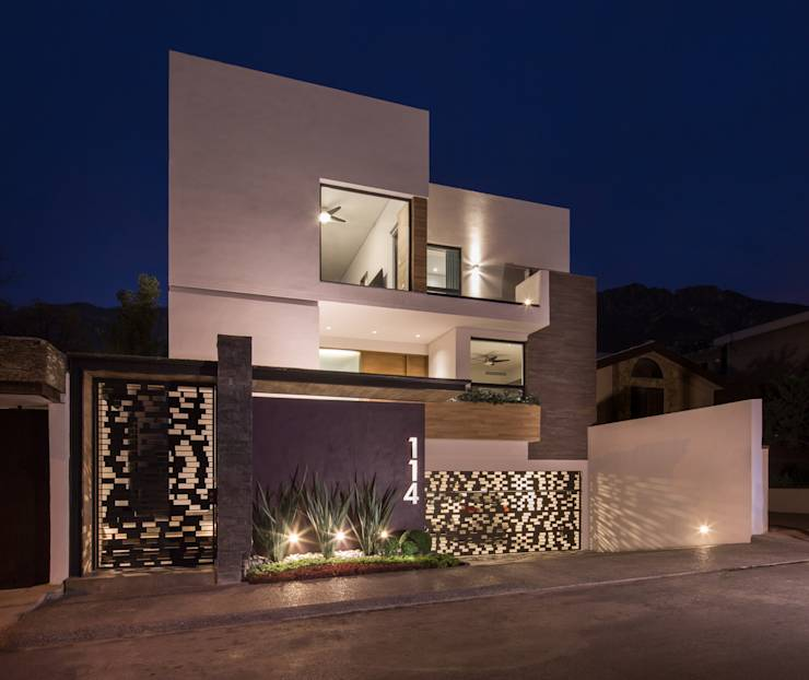 15 puertas principales fant sticas for Lampara de piso minimalista