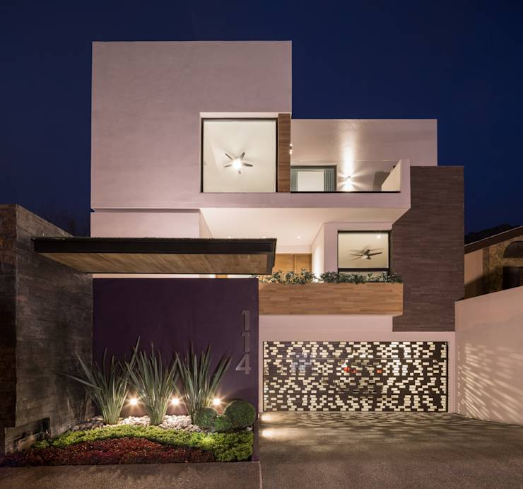 29 dise os de jardines que har n lucir el frente de tu casa for Casa estilo nordico minimalista