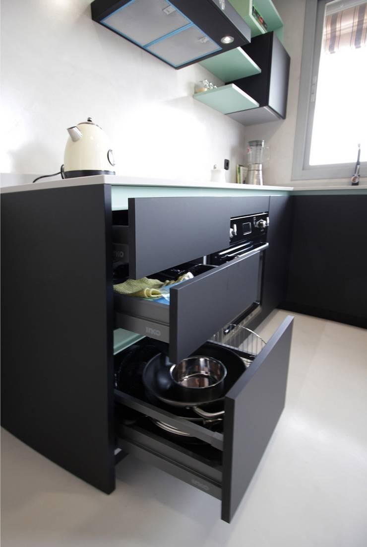 Dise o de cocina moderna en madrid de l nea 3 cocinas - Cocina moderna madrid ...
