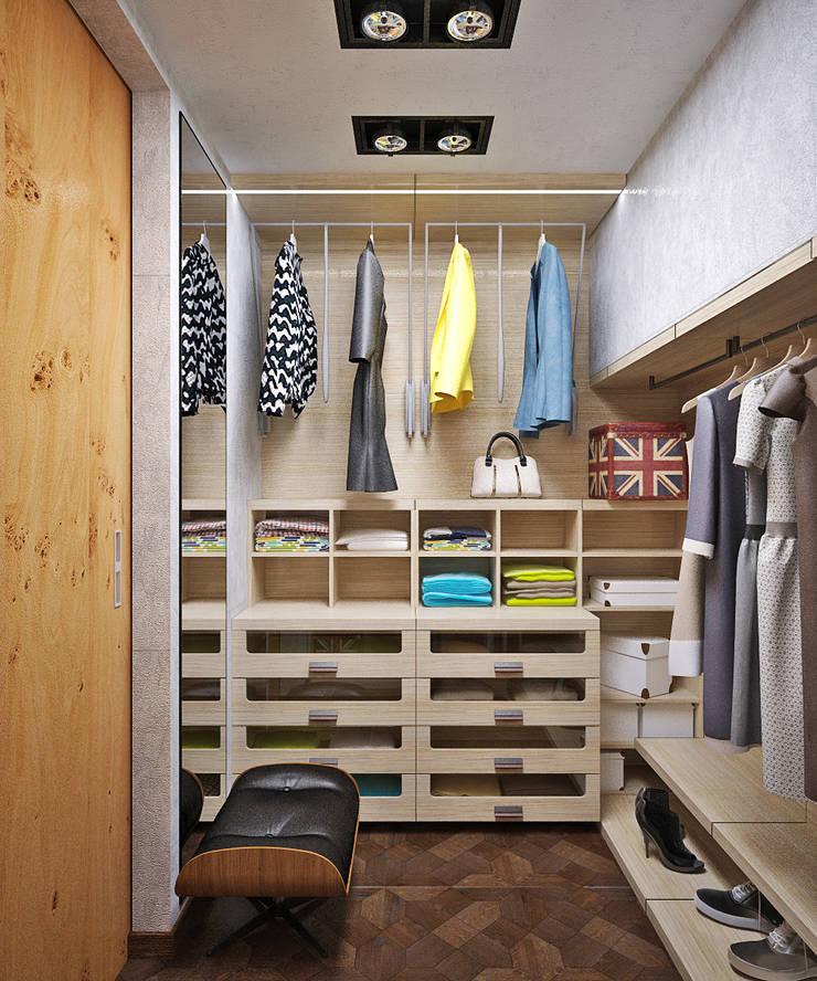 Яркая прихожая и функциональная гардеробная by студия дизайн.