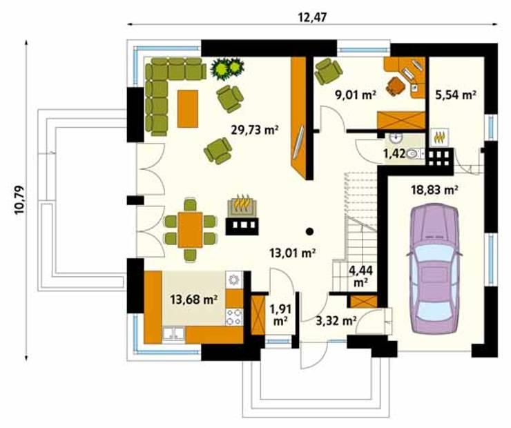 translation missing: id.style.dinding-lantai.modern Dinding & Lantai by BIURO PROJEKTOWE MTM STYL