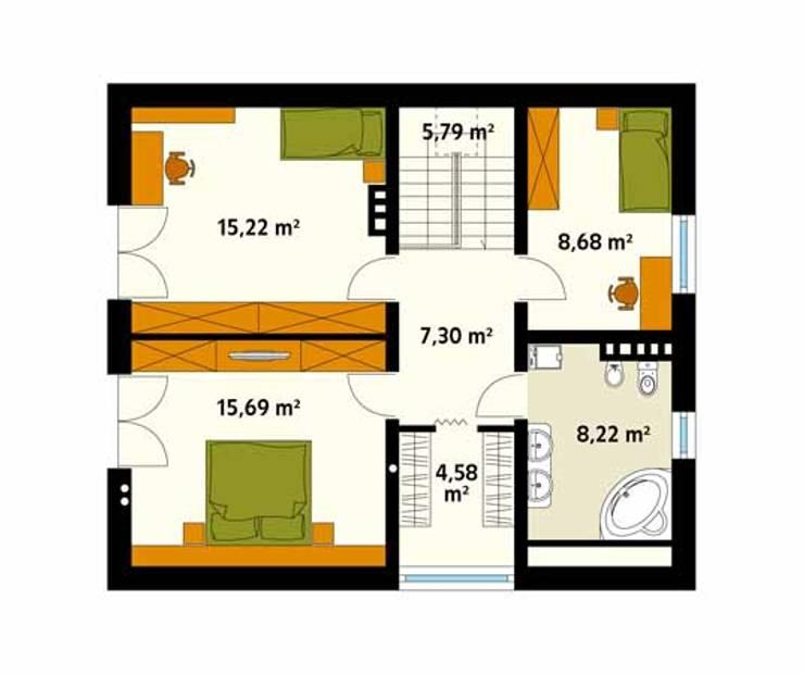 Paredes e pisos modernas por BIURO PROJEKTOWE MTM STYL