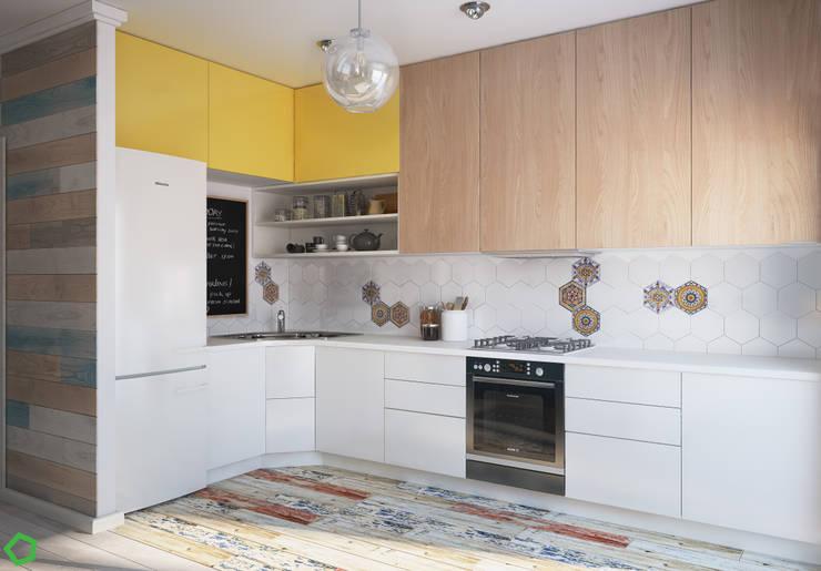 Projekty, translation missing: pl.style.kuchnia.minimalistyczny Kuchnia zaprojektowane przez Polygon arch&des