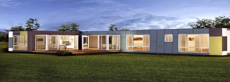 Casa prefabricadas de construcciones f rivaz homify - Construcciones casas prefabricadas ...