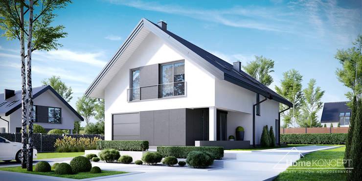 Casas de estilo moderno de HomeKONCEPT | Projekty Domów Nowoczesnych
