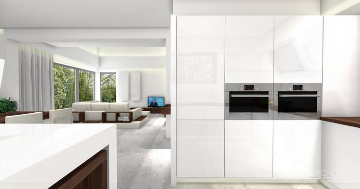 Cocinas de estilo moderno de HomeKONCEPT | Projekty Domów Nowoczesnych
