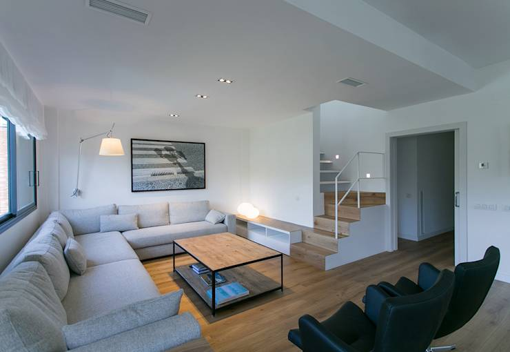 minimalistic Living room by dom arquitectura