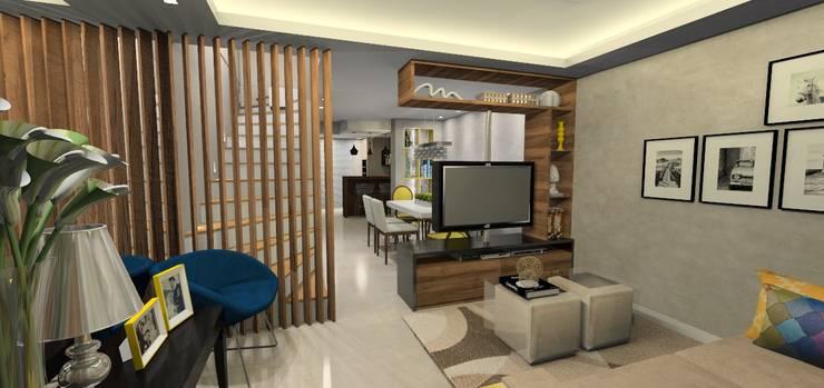 Salas de estilo moderno por Danielle Barbosa DECOR|DESIGN