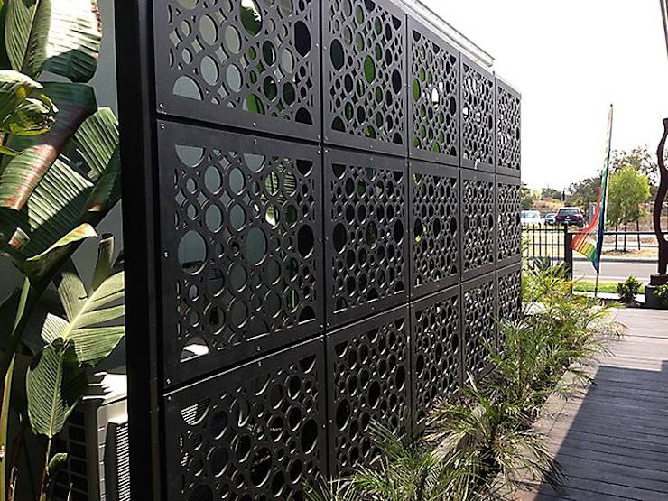 20 modern fences to make your home stylish and safe - Exterieur decoratie moderne tuin ...