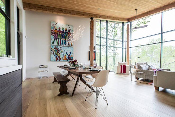 Mad river chalet modern dining room by bldg workshop inc