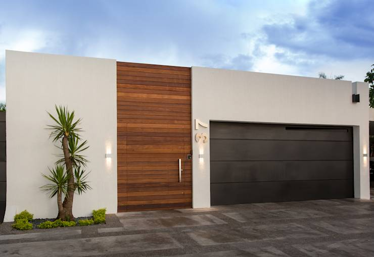 15 fachadas de casas modernas cerradas al exterior for Casas pequenas estilo minimalista