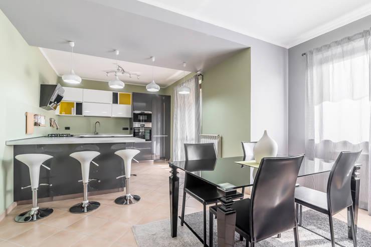 28 foto di zone giorno che uniscono cucina e sala da pranzo - Tende per sala da pranzo ...