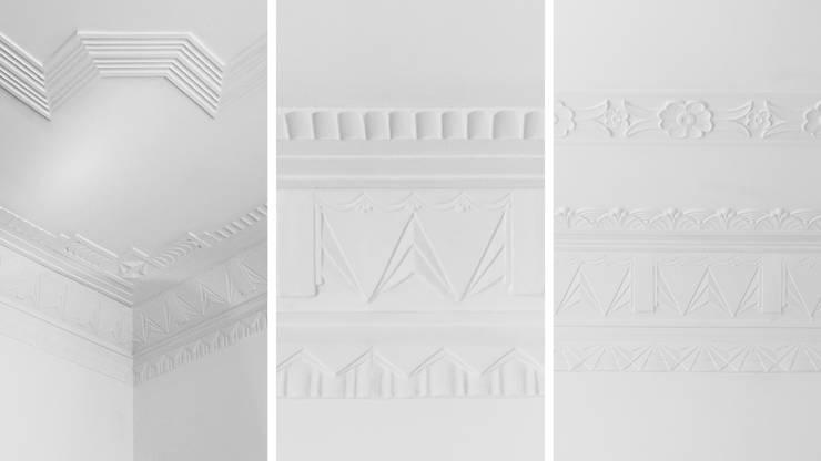 Pormenores de tectos | Ceiling design details: Paredes e pisos minimalistas por FMO ARCHITECTURE