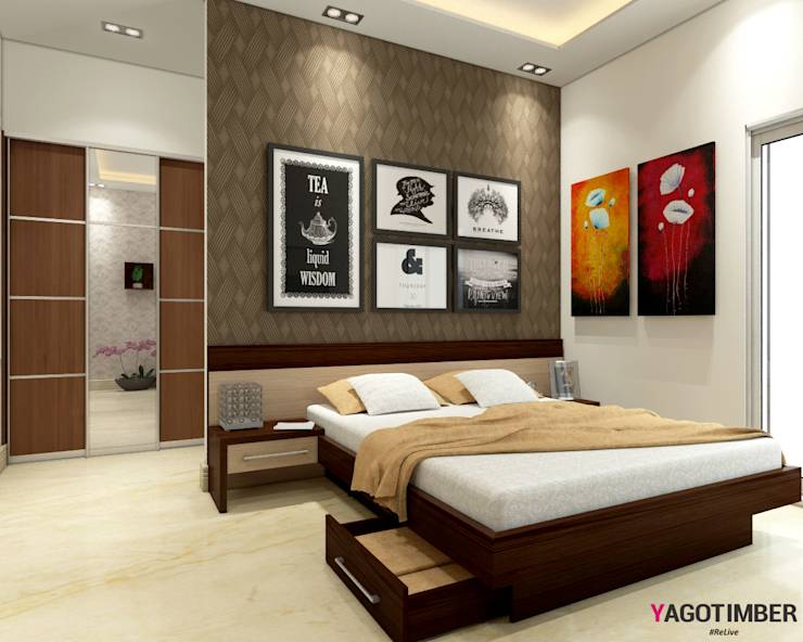 10 pictures of amazing bedrooms and kitchens by designers for Bedroom designs delhi