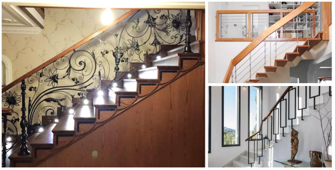 15 barandales de madera y herrera para una escalera con estilo