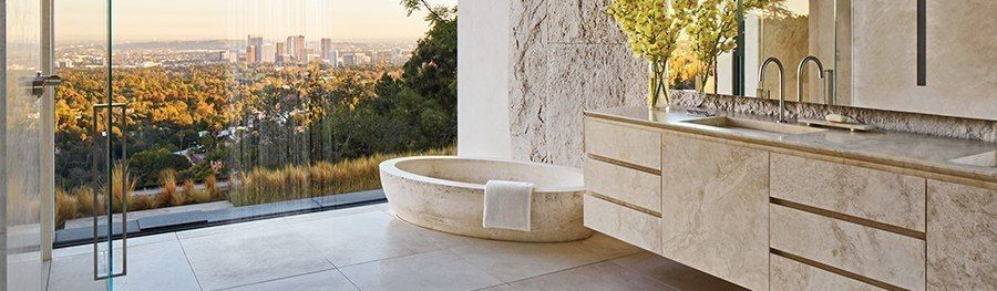 Pavimentazioni esterne in travertino per resort in toscana - Pietre per bagno ...