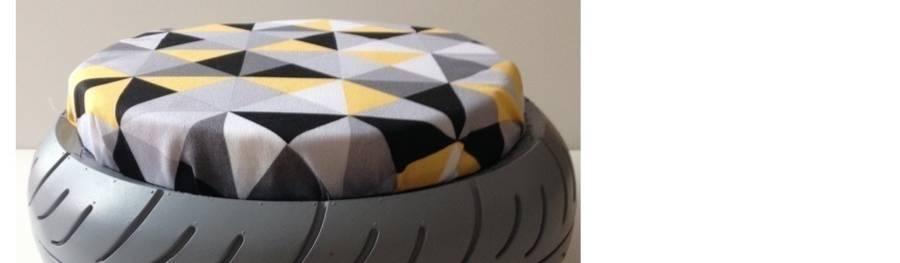pouf en pneu recycl par le designer du recyclage homify. Black Bedroom Furniture Sets. Home Design Ideas