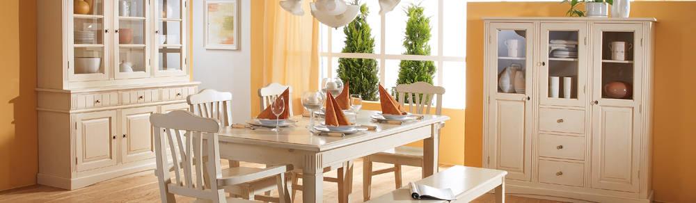 Highboard Landhaus Rafael Landhausmöbel Weiß Holz Kiefer massiv von ...