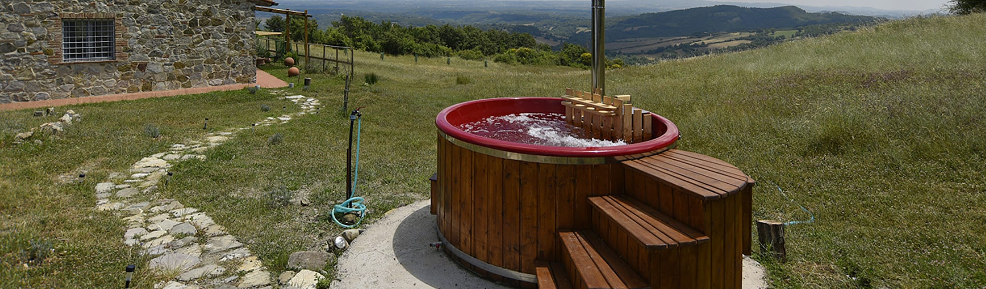 Spa all'aperto Saune Hot Tube Spa Tinozza idromassaggio Pod Bungalow