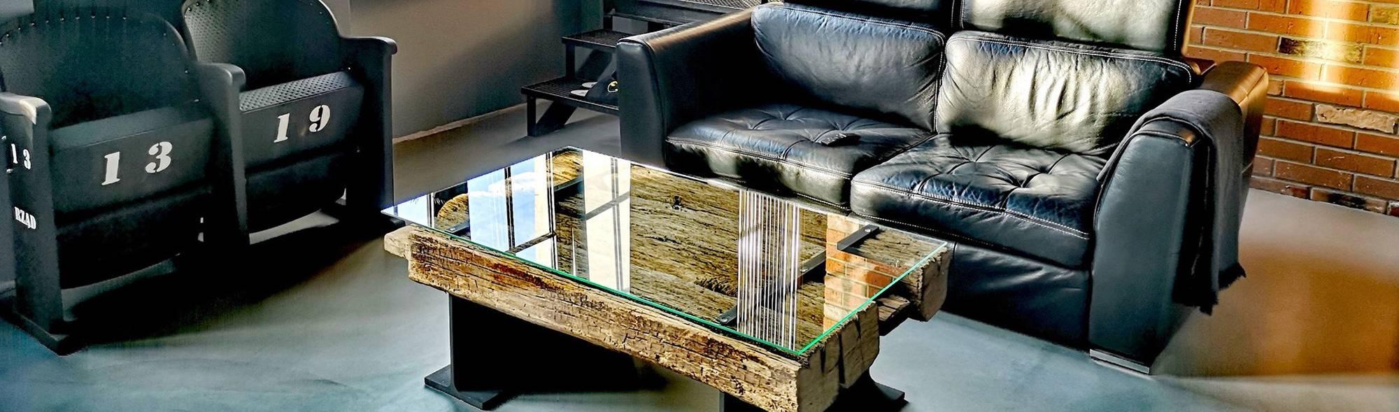 STUDIO OSHEI – stoły, ławy z litego drewna, designerskie meble industrialne.