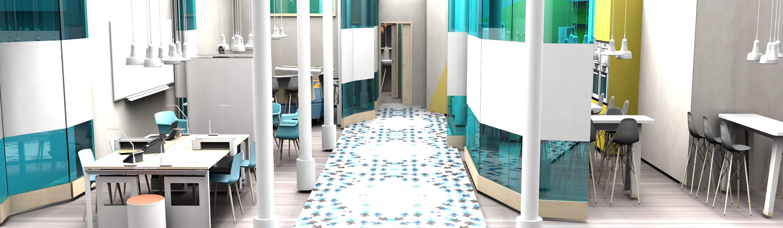 Dise o de interiores espacio coworking von ana utrilla - App diseno de interiores ...