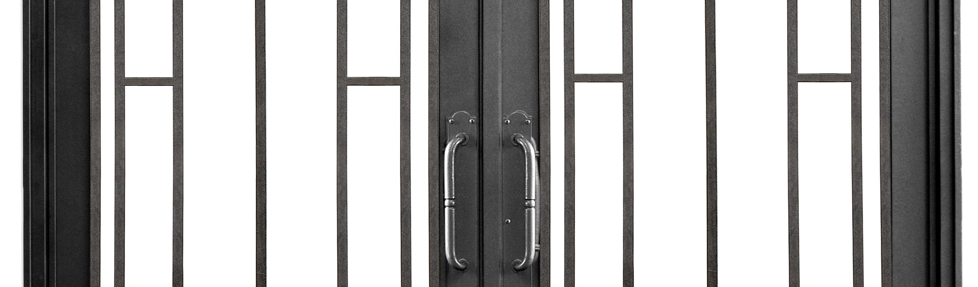Puerta de entrada rustica moderna de del hierro design for Puertas hierro forjado