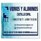 vidrios y aluminios <q>CASTILLO CUPUL</q>
