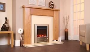 kinder Inset Fire:  Living room by Fiveways Fires & Stoves