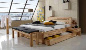 Projekty,  Sypialnia zaprojektowane przez Massive Naturmöbel