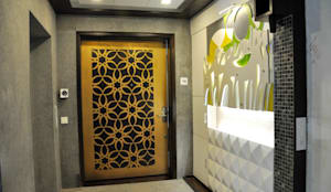 Main Door Entrance Design: modern Living room by malvigajjar