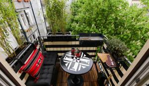 Balcon, Veranda & Terrasse de style  par DIE BALKONGESTALTER